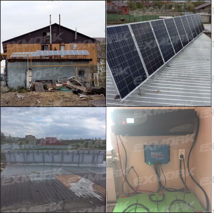 Установка солнечной электростанции Exmork г.Орск