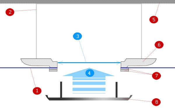 схема крепежного отверстия платформы для установки точечных светильников