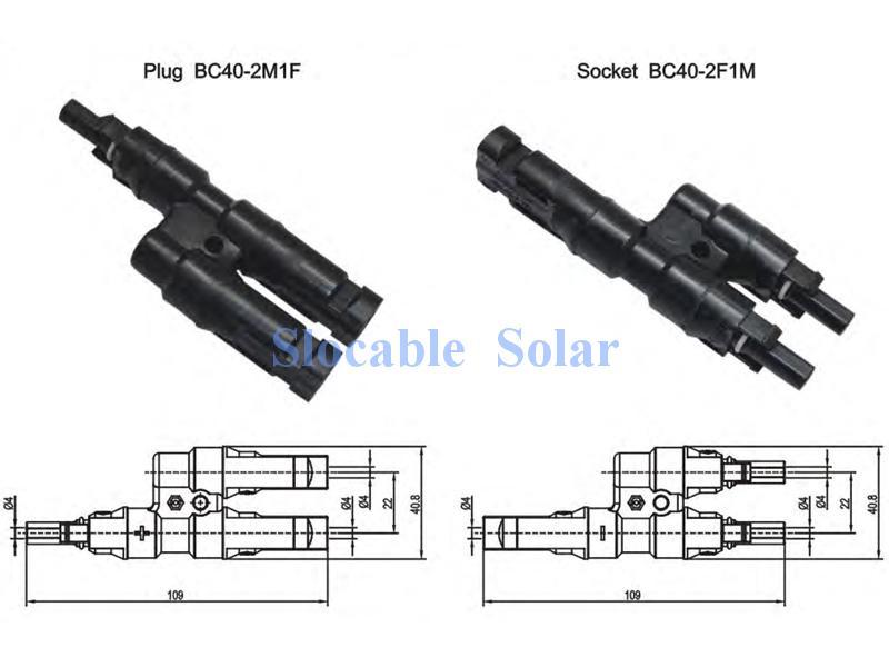чертёж коннектора для параллельного соединения солнечных батарей