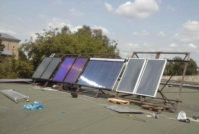 солнечные коллектора испытания