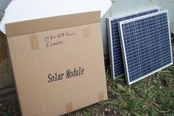 коробка с солнечными батареями 50 ватт 12В 2 штуки