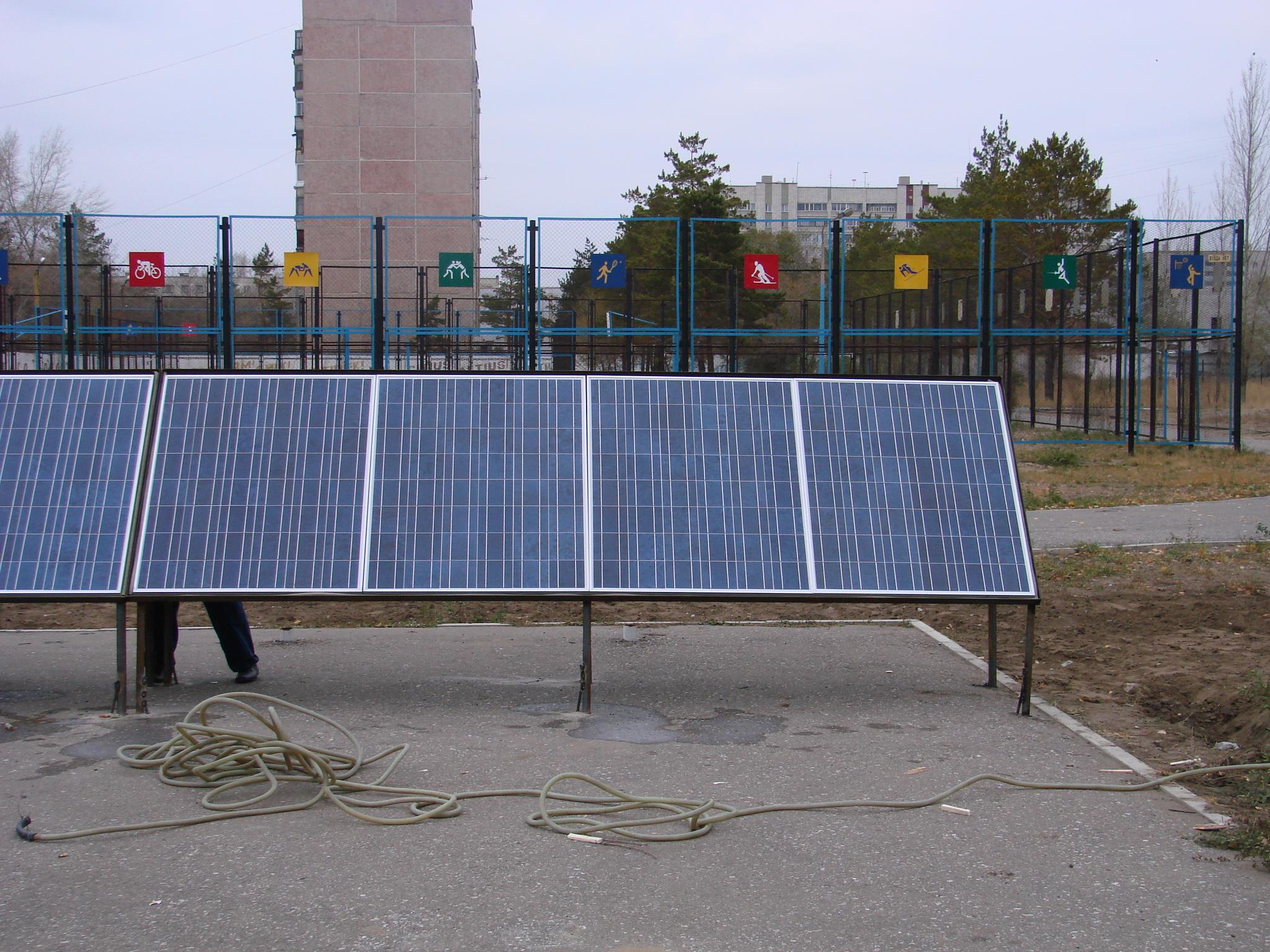 первая ветро-солнечная электростанция Казахстана