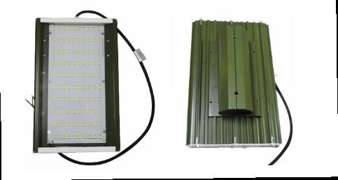 LED светильник уличный с консольным креплением Exmork 12B 50ватт зеленый