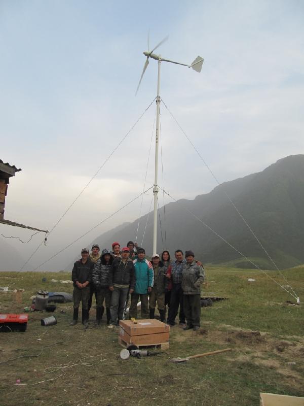 общее фото монтажников ветряка