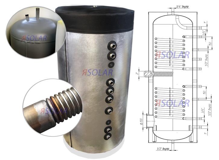 Бак-аккумулятор тепловой энергии ЯSolar